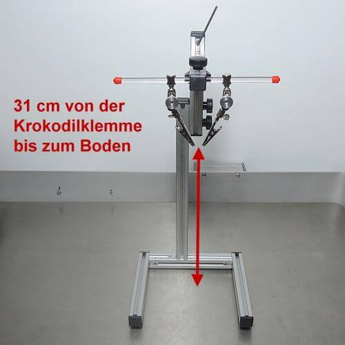 mit dem Elektroden-Haltesystem (GSH-System) für Goldelektroden kann die Höhe genau eingestellt werden