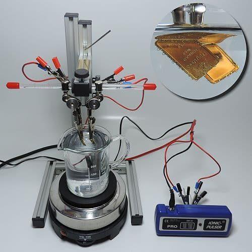Herstellung von kolloidalen Gold mit einem Silbergenerator
