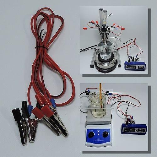 Silbergenerator-Kabelsatz mit Krokodilklemmen - Lieferumfang