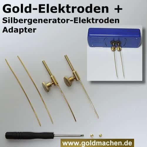Mit dem Elektroden-Adapter können Sie Goldelektroden in Silbergenerator verwenden
