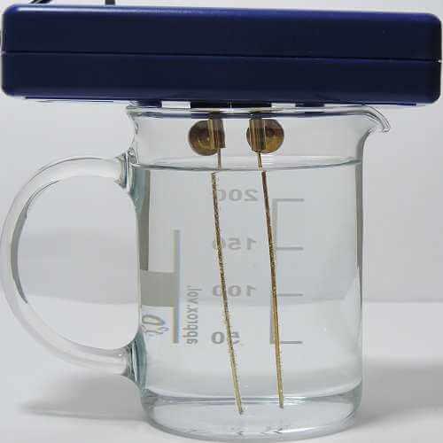 Silbergenerator mit 8 cm Goldelektroden und Adapter - Bild1