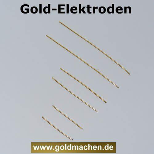 Goldelektroden zum kolloidales Gold herstellen in 3-5-8-cm länge