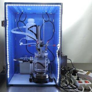 Kolloide herstellen mit Siet/Fard Trafo im Hochvolt-Plasma-Verfahren in Schutzbox