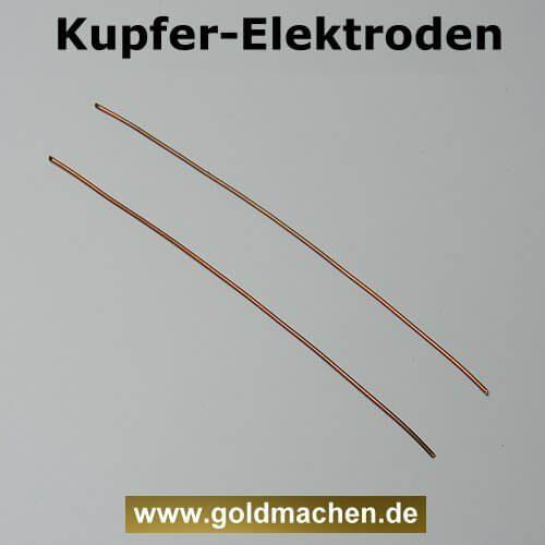Kupferlektroden zum kolloidales Kupfer herstellen