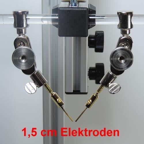 auch kurze Elektroden können im Adapter eingespannt werden