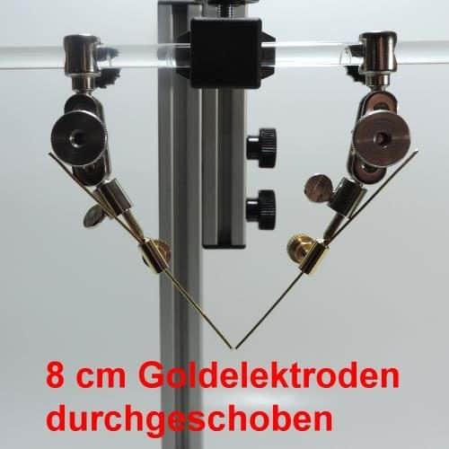 Lange Elektroden werden durch den Adapter durchgeschoben