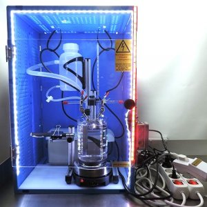 kolloidale Herstellung mit Hochvolt-Trafo in Schutzbox