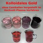 verschieden Farben von kolloidalen Gold