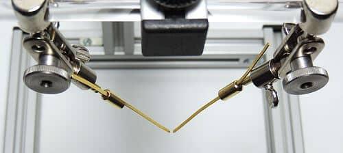 flache Goldelektroden in Elektrodenadapter