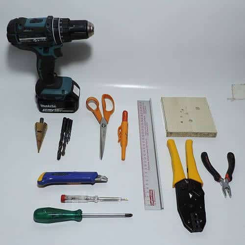 Schutzboxbau - benötigte Werkzeuge