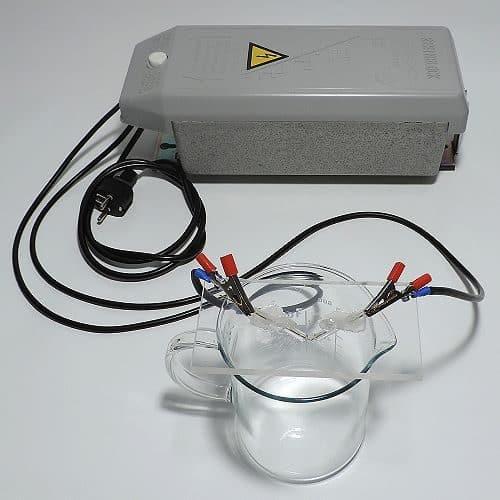 Trafo Anschluss-Kabelset an den Elektroden angeschlossen