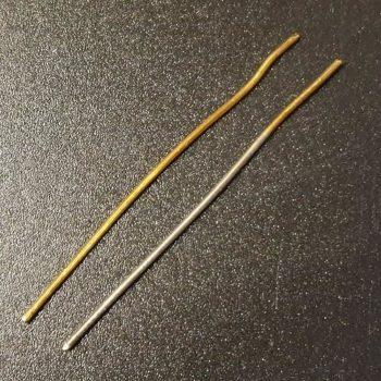 Silbriger Belag bei der kolloidalen (ionischen) Goldherstellung