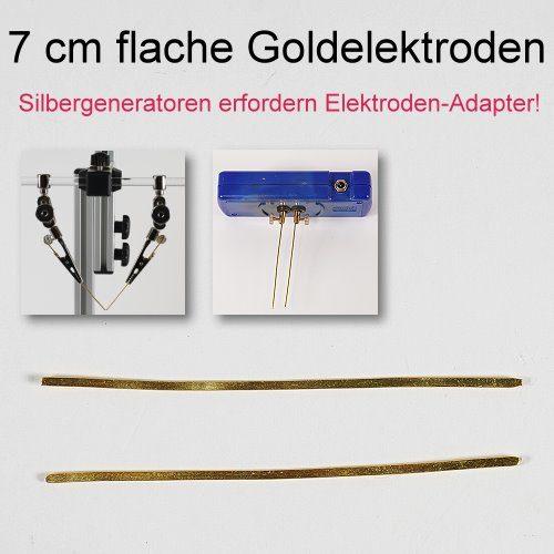 Goldelektroden flach - kolloidales Gold herstellen