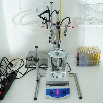 500-Watt Magnetrührer bei der Kolloidherstellung